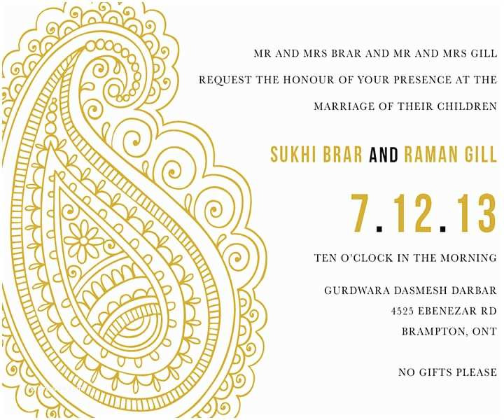Paisley Wedding Invitation Template 10 Awesome Indian Wedding Invitation Templates You Will Love