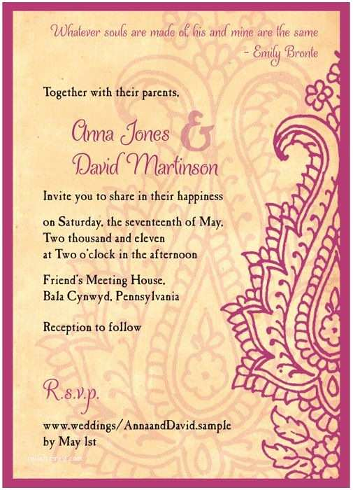 Paisley Wedding Invitation Template 1000 Images About Mehndi E Invite On Pinterest