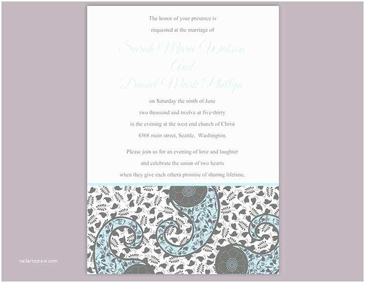Paisley Wedding Invitation Template Bollywood Wedding Invitation Template Download Printable
