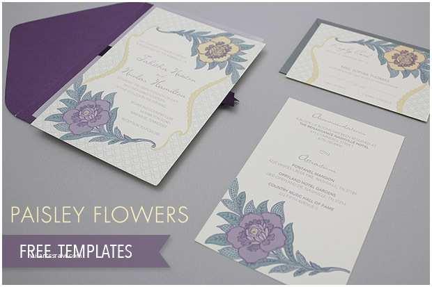 Paisley Wedding Invitation Template Free Paisley Wedding Templates