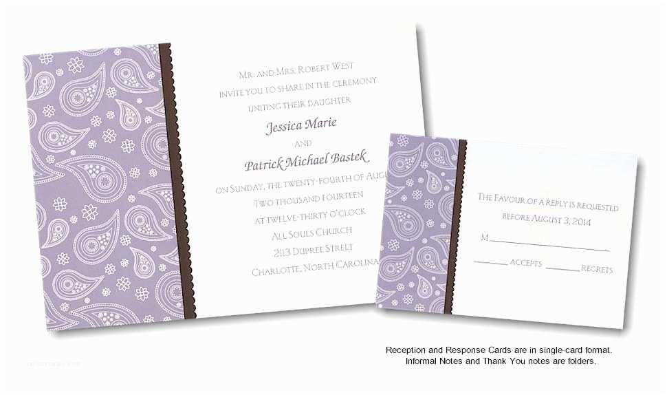 Paisley Wedding Invitation Template Paisley Invitations