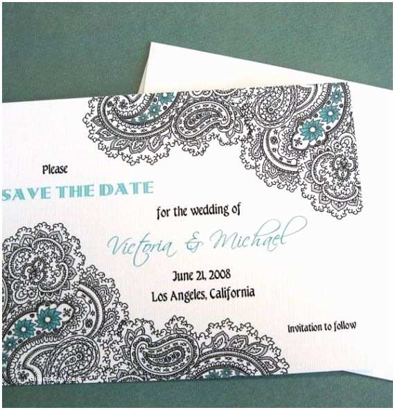 Paisley Wedding Invitation Template Paisley Invitations