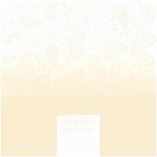 Paisley Wedding Invitation Template Simple and Elegant Wedding Invitation Paisley Design