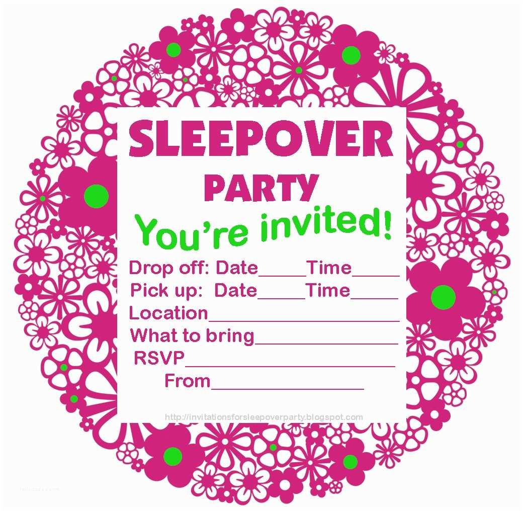 Pajama Party Invitations Invitations for Sleepover Party