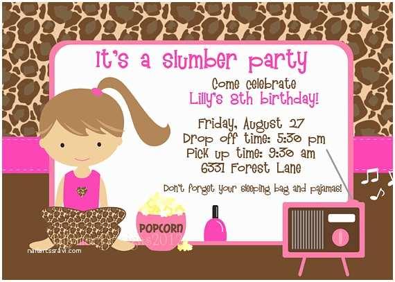 Pajama Party Invitations sonno Invito Party Partito Di Pigiama Party Invito Party