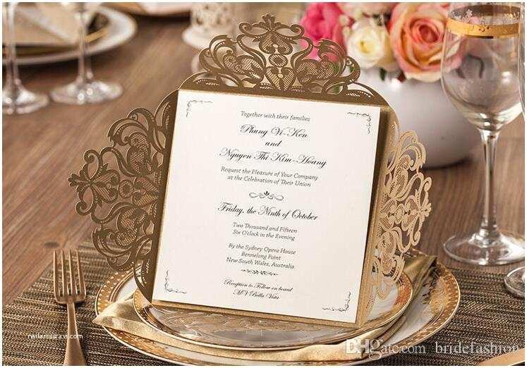 Pakistani Wedding Invitations 2017 Wedding Invitations Gold Paper Blank Inner Sheet