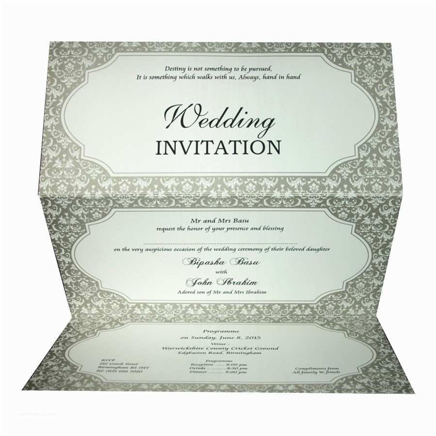 Pakistani Wedding Invitations Abc 613 [] £0 65 Indian & Pakistani Wedding