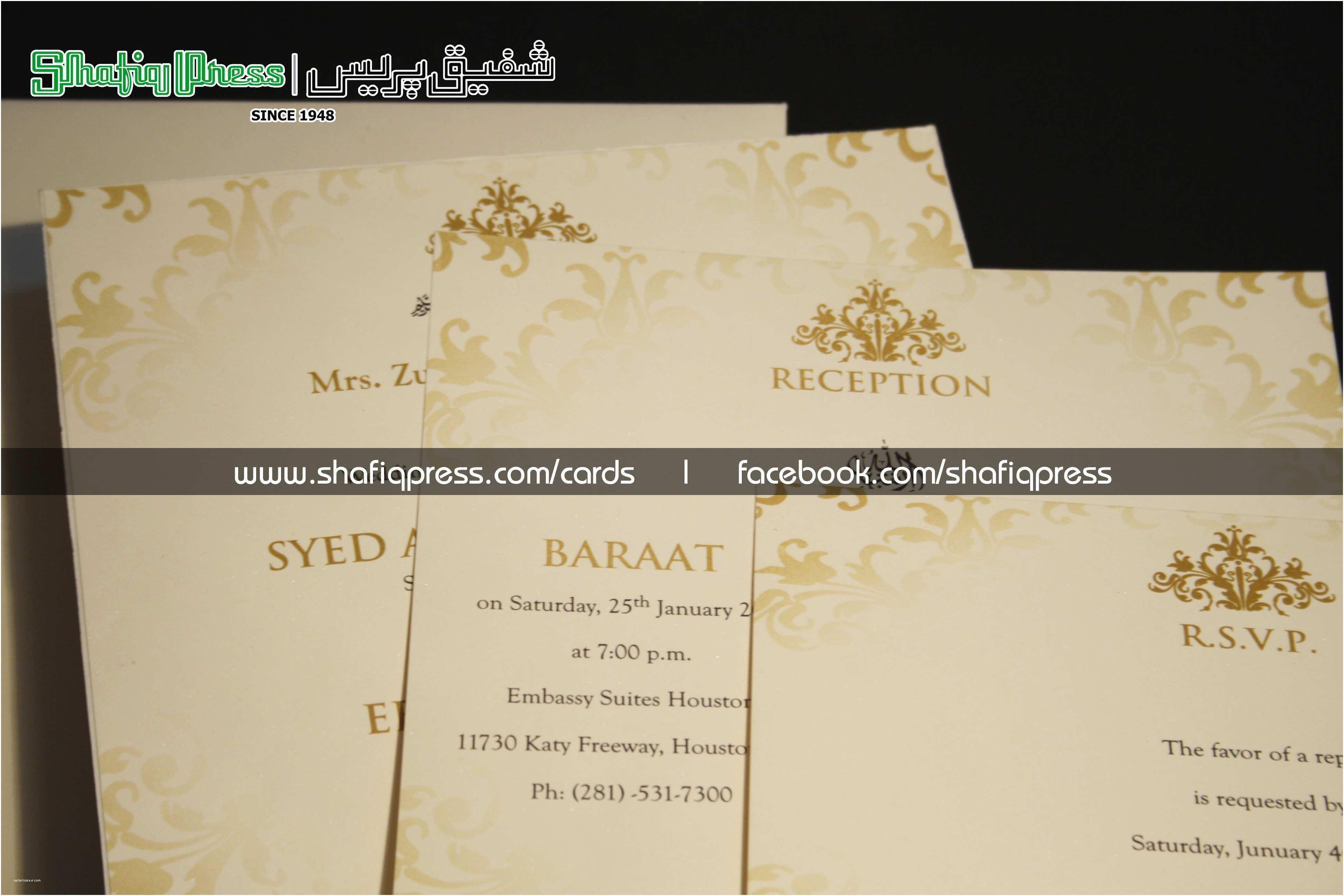 Pakistani Wedding Invitations Usa Www Shafiqpress Shafiq Press Wedding Cards In Karachi