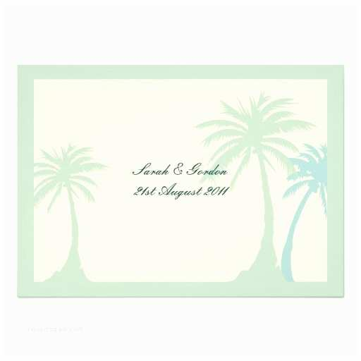 Palm Tree Wedding Invitations Green Palm Tree Wedding Invitation