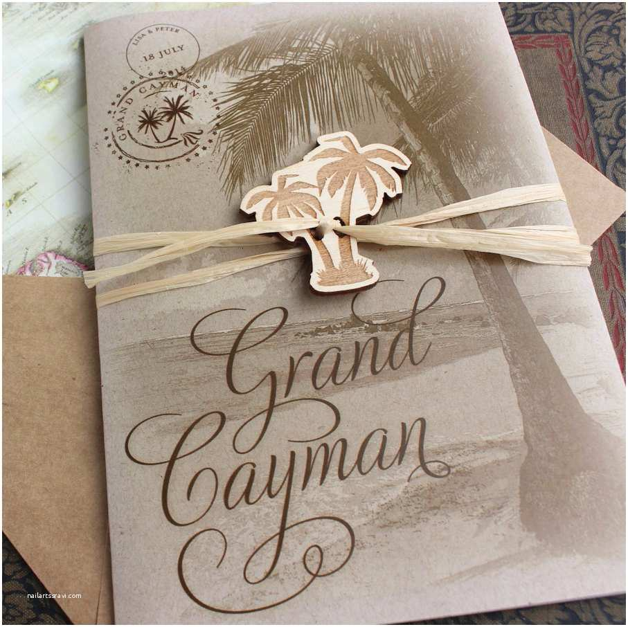 Palm Tree Wedding Invitations Rustic Palm Tree Wedding Invitation Grand Caymanprinted