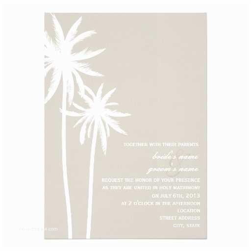 Palm Tree Wedding Invitations Two Palm Trees Wedding Invitation
