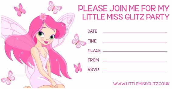 Pamper Party Invitations Party Invitations Pamper Parties Girls Princess Tattoo