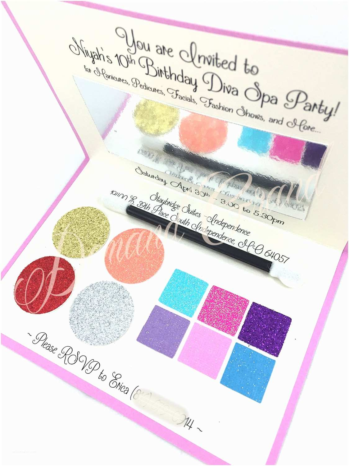 Pamper Party Invitations Spa Party Invitation Looks Like A Makeup Pact Perfect