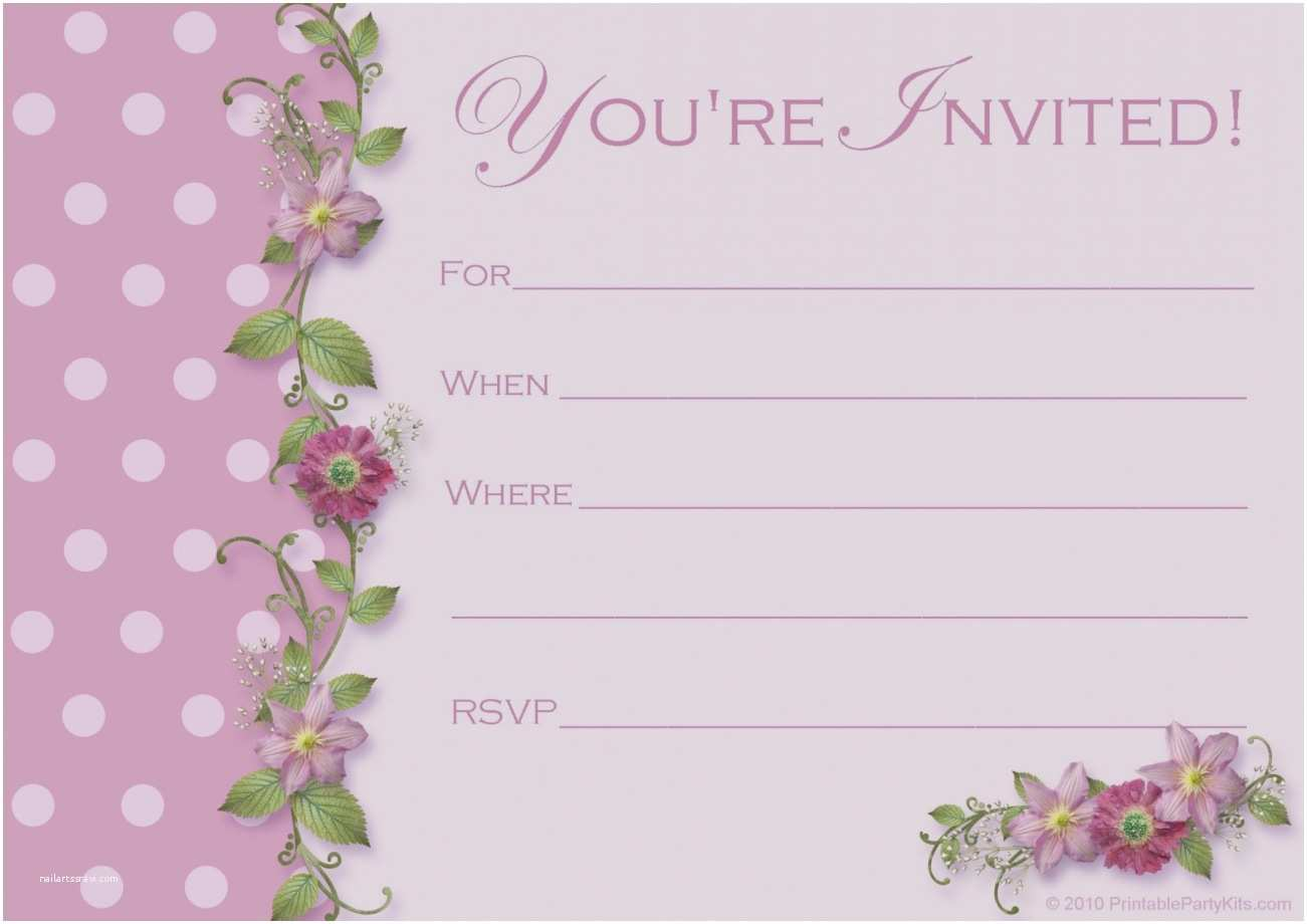 Pamper Party Invitations Trend Free Invitation