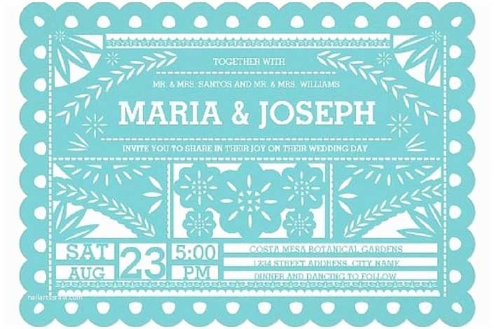 Papel Picado Wedding Invitations Awe Inspiring Papel Picado Wedding Invitations