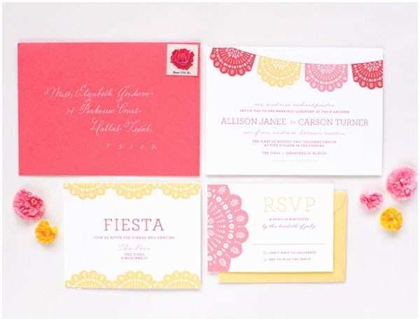 Papel Picado Wedding Invitations Fiesta Mexican themed Wedding Inspiration B Lovely events