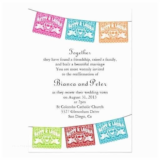 Papel Picado Wedding Invitations Love Birds Papel Picado Wedding Banners Invitation