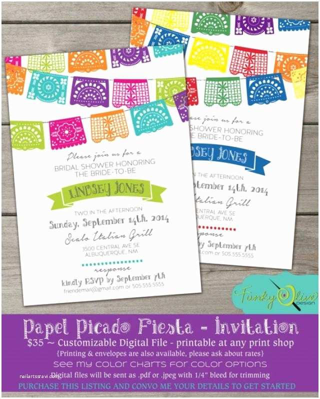 papel picado mexican paper banner fiesta wedding invitation digital file rehearsal dinner bridal shower wedding baby shower party