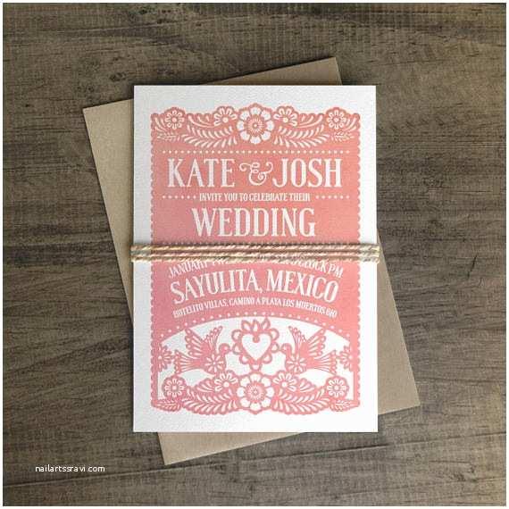 Papel Picado Wedding Invitations Invitation