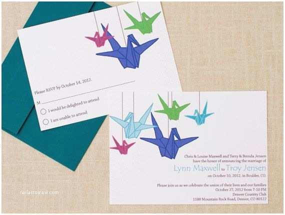Paper Crane Wedding Invitations 1000 Images About Wedding Crane On Pinterest