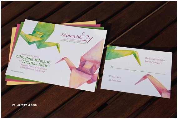 Paper Crane Wedding Invitations 11 Incredible origami Crane Wedding Invitations