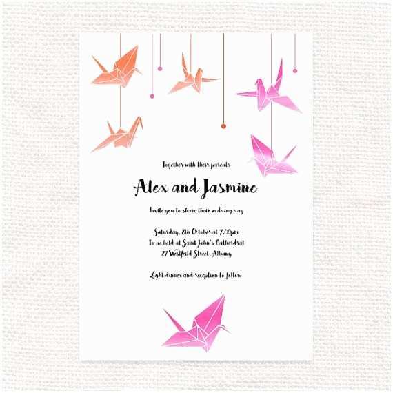 Paper Crane Wedding Invitations 13 Best Images About Wedding Invitations by I Do It