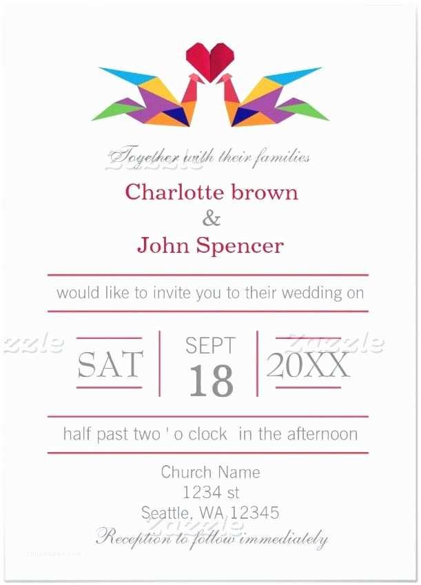 Paper Crane Wedding Invitations 17 Best Images About Wedding Invitations On Pinterest