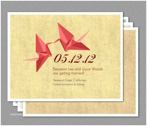 Paper Crane Wedding Invitations 27 Best Wedding Crane Images On Pinterest