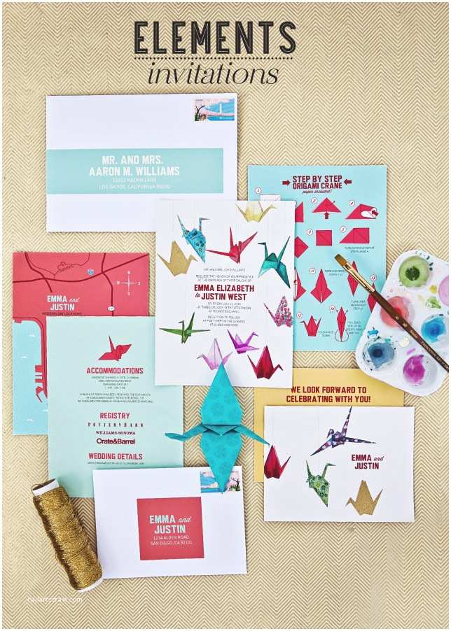 Paper Crane Wedding Invitations Fabulous Finds origami Wedding Invitations