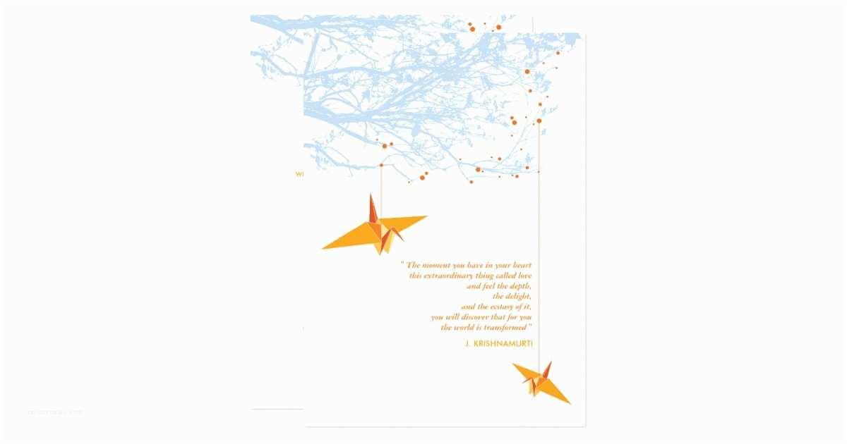 Paper Crane Wedding Invitations Fatfatin Double Paper Cranes Wedding Invitation
