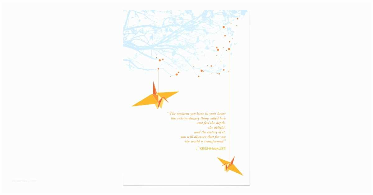 Paper Crane Wedding Invitations Fatfatin Double Paper Cranes Wedding Invitation