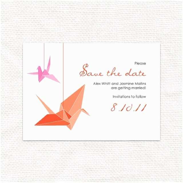 Paper Crane Wedding Invitations origami Crane Wedding Invitations