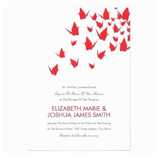 Paper Crane Wedding Invitations origami Paper Cranes Wedding Invitation