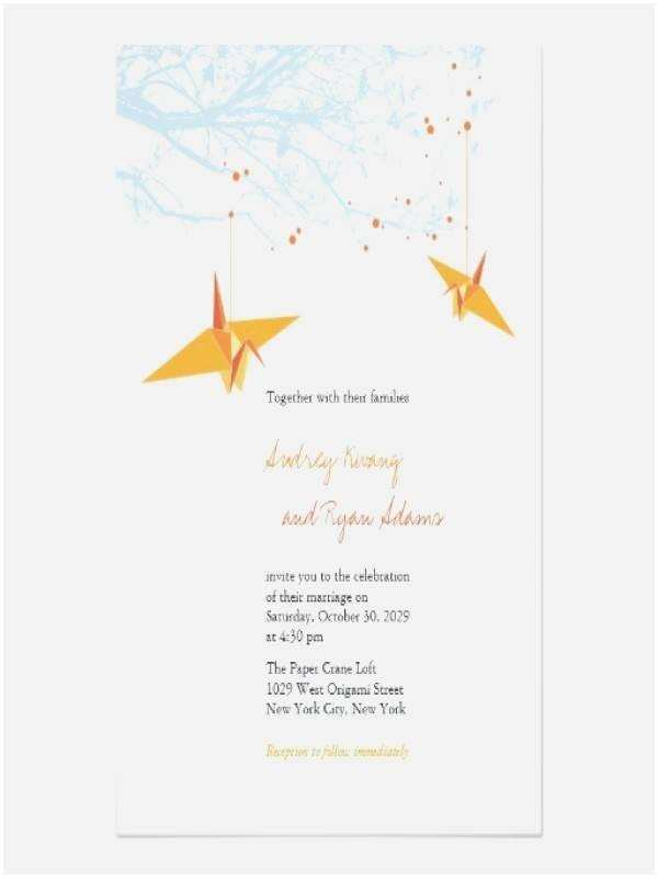 Paper Crane Wedding Invitations Paper Crane Wedding Invitations