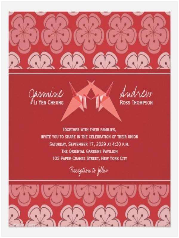 Paper Crane Wedding Invitations Paper Crane Wedding Invitations