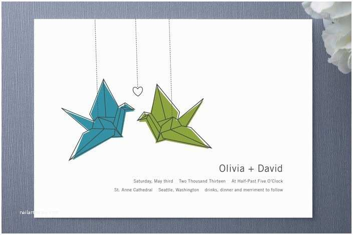 Paper Crane Wedding Invitations Paper Crane Wedding Invites Tsurus Pinterest