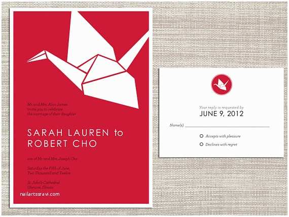 Paper Crane Wedding Invitations Unavailable Listing On Etsy