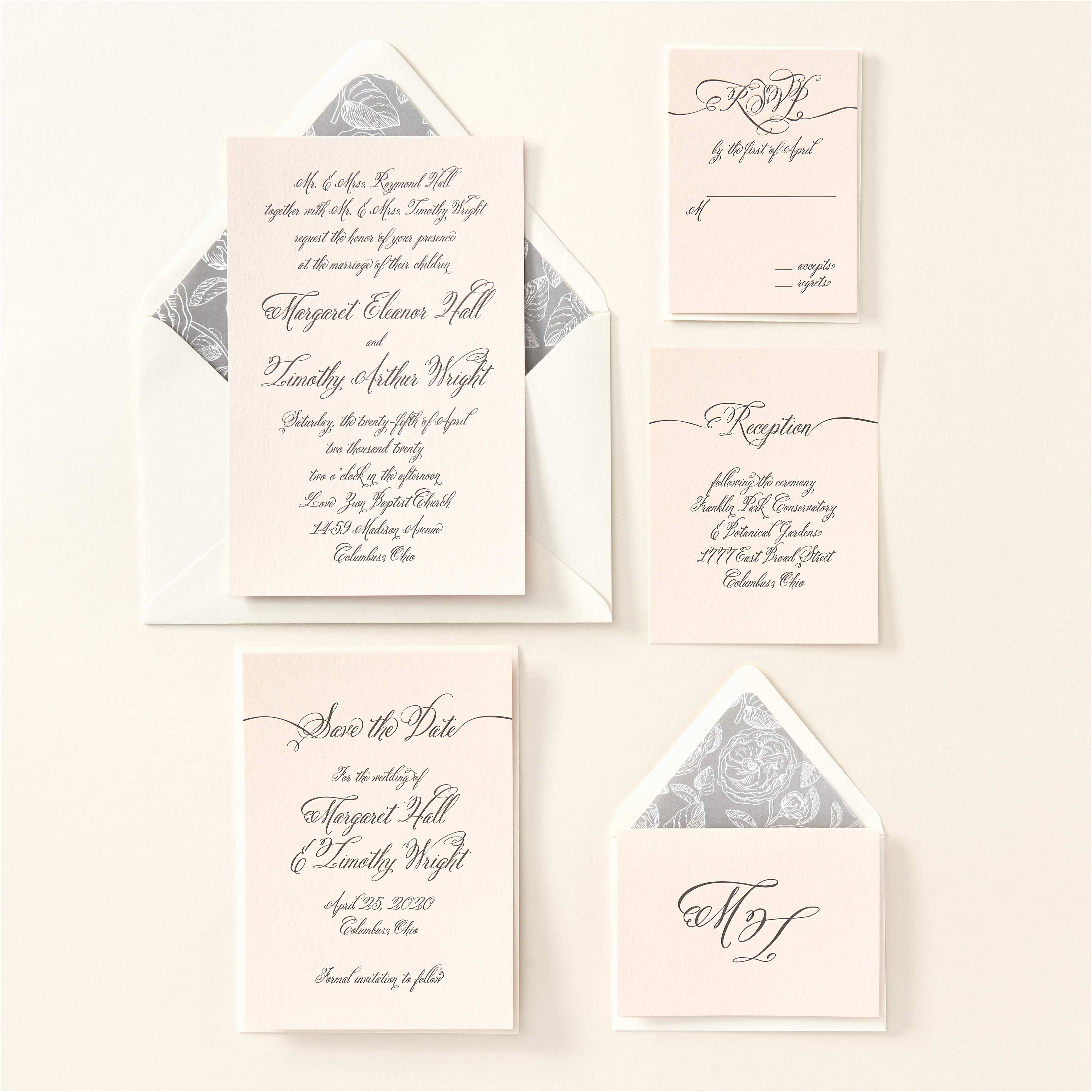 Paper source Wedding Invitations Meghan Markle S former Side Job as A Calligrapher