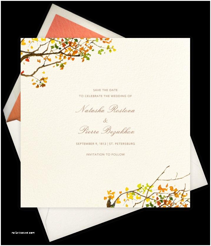 Paperless Post Free Wedding Invitations Autumn & Winter Wedding Invitations
