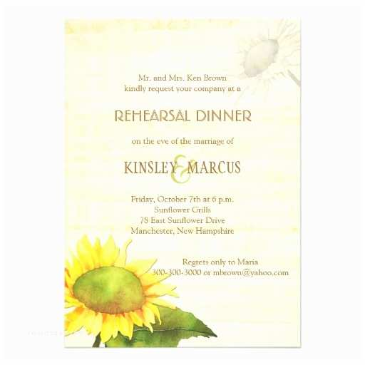 "Papyrus Wedding Invitations Sunflowers Papyrus Print Rehearsal Dinner Invite 5"" X 7"