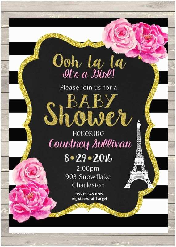 Paris Baby Shower Invitations 25 Best Ideas About Paris Baby Shower On Pinterest