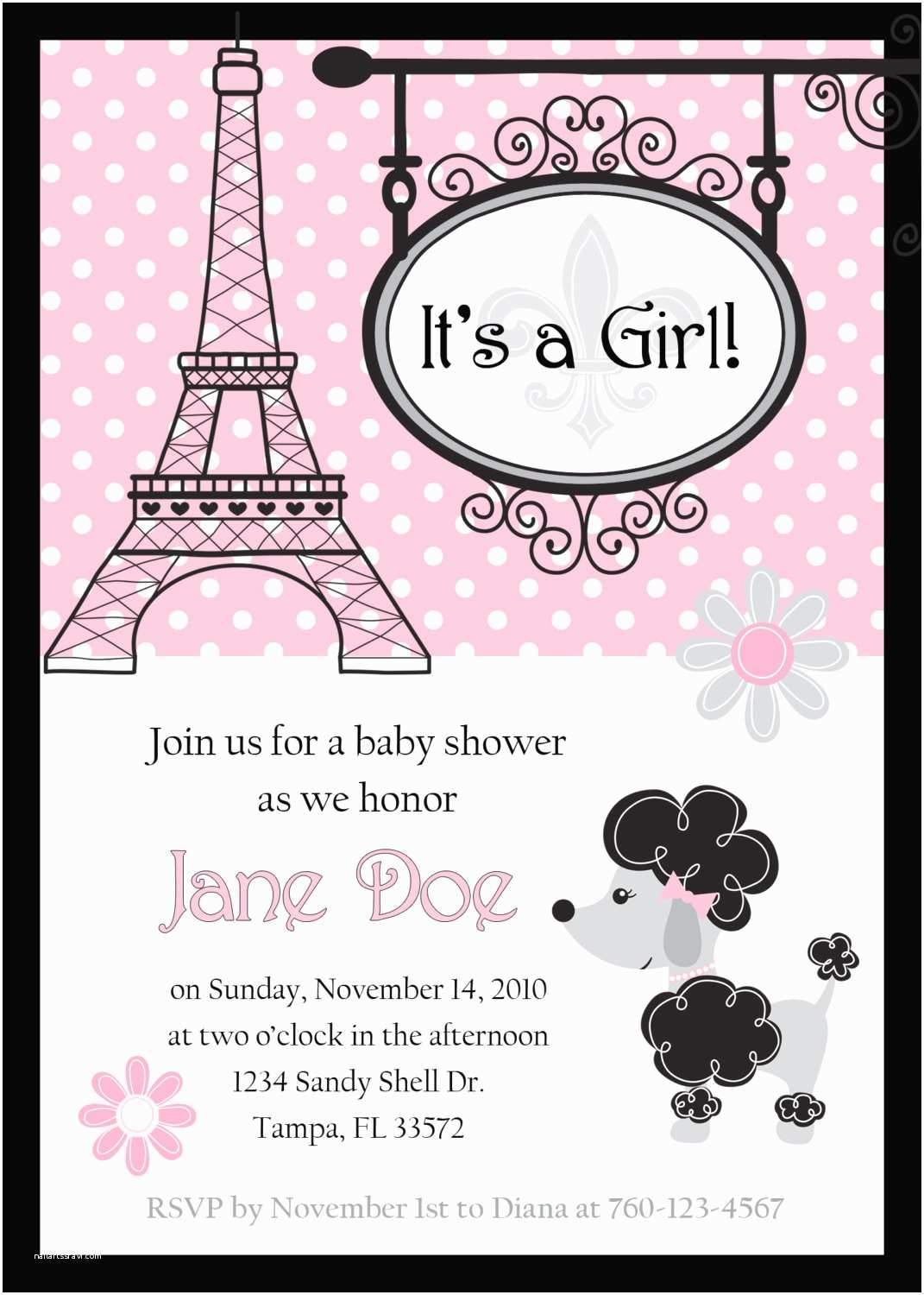 Paris Baby Shower Invitations Baby Shower Invitations Paris Baby Shower Invitations