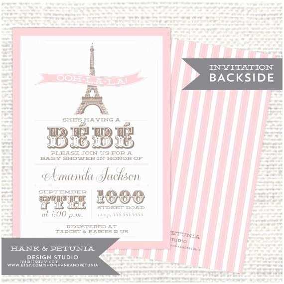 Paris Baby Shower Invitations Printable Paris Baby Shower Invitation