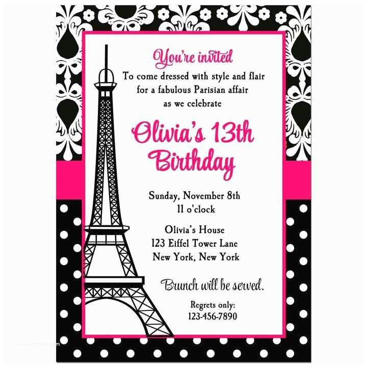 Paris Birthday Invitations 17 Best Ideas About Paris Invitations On Pinterest