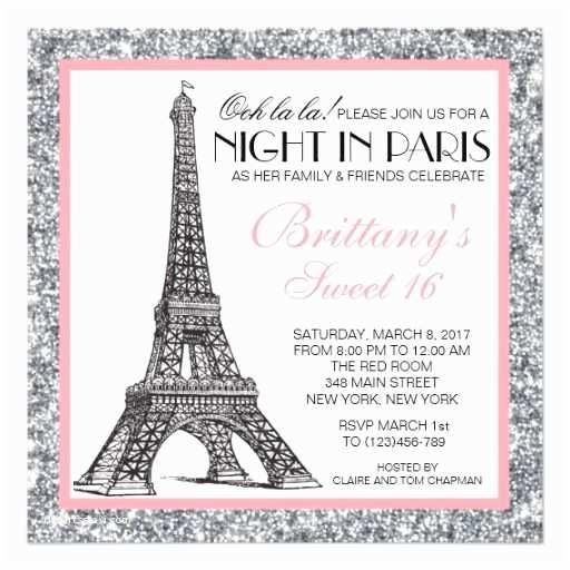 Paris Birthday S Night In Paris Glitter Sweet 16 Custom