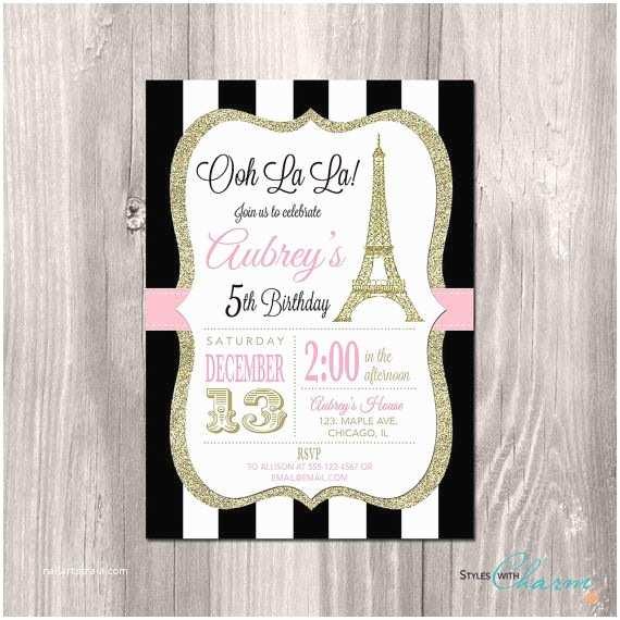 Paris  Invitations Paris Invitation Eiffel Tower Invitation Paris