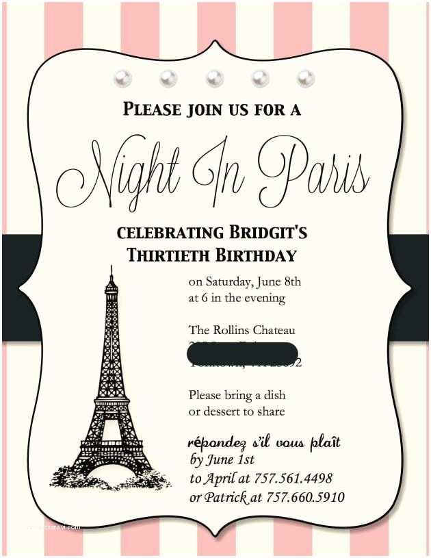 Paris Birthday  Paris Themed Birthday