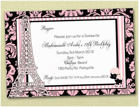 paris birthday invitations you print 3