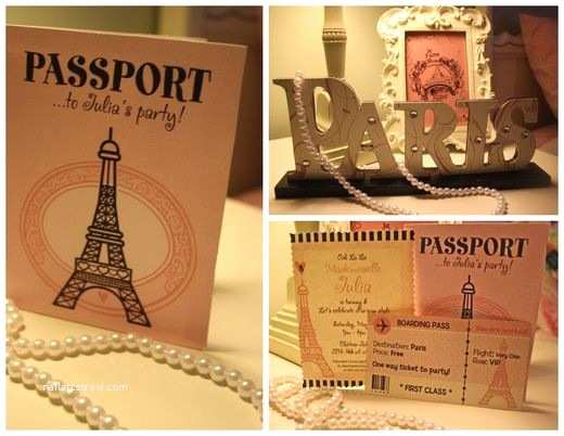 Paris  Invitations Parisian French Paris Pink Pink And Black
