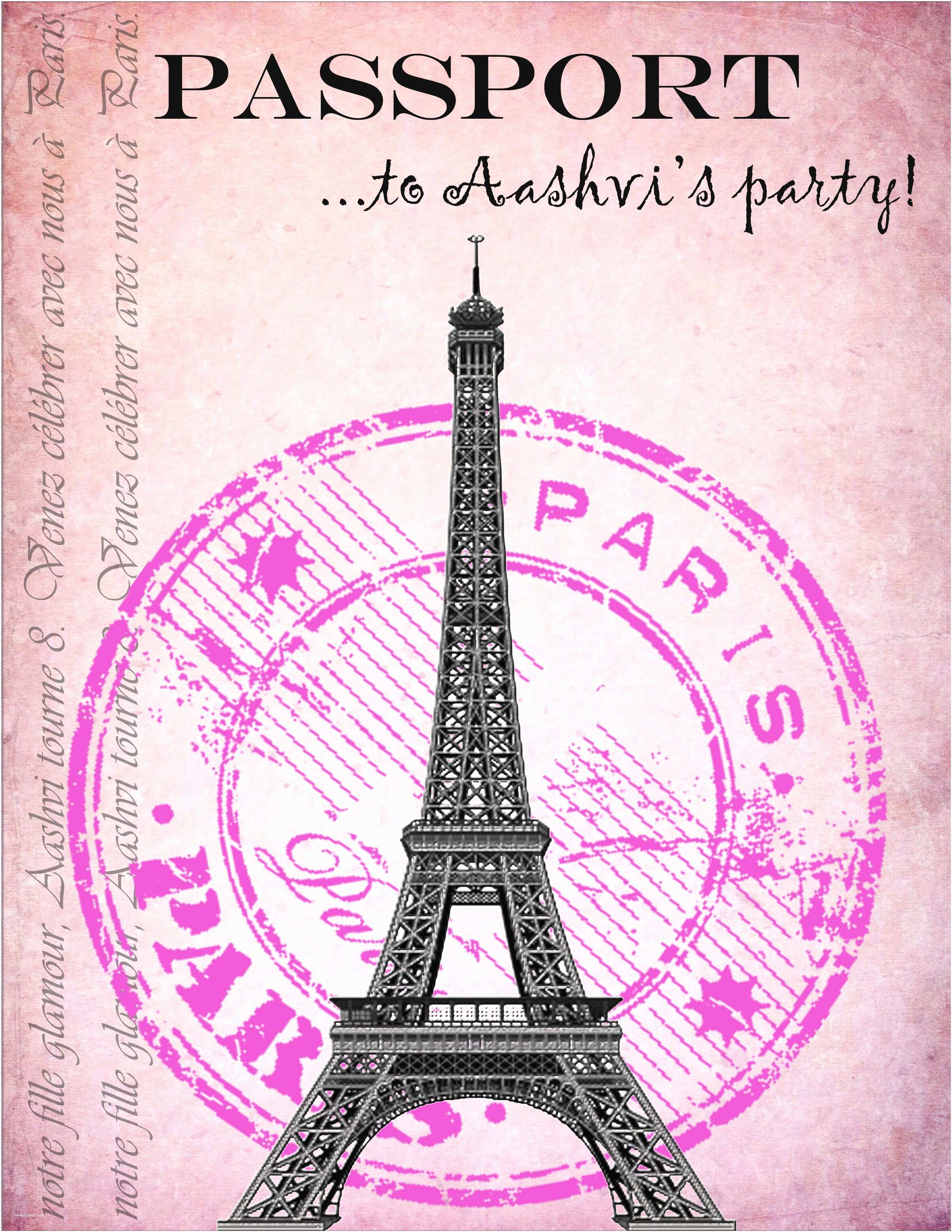 Paris Birthday Invitations Party Invitations I Made For My Daughter S Paris
